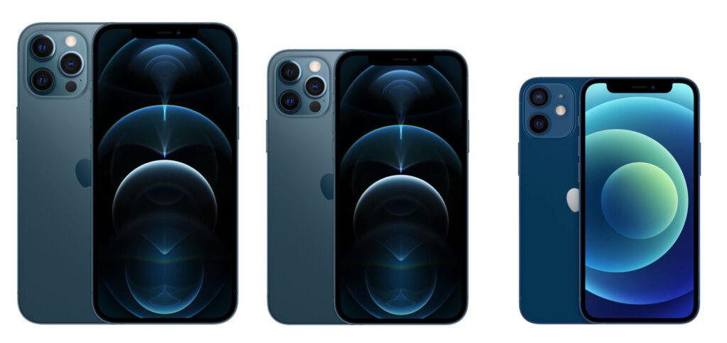 iPhone12シリーズのサイズ比較