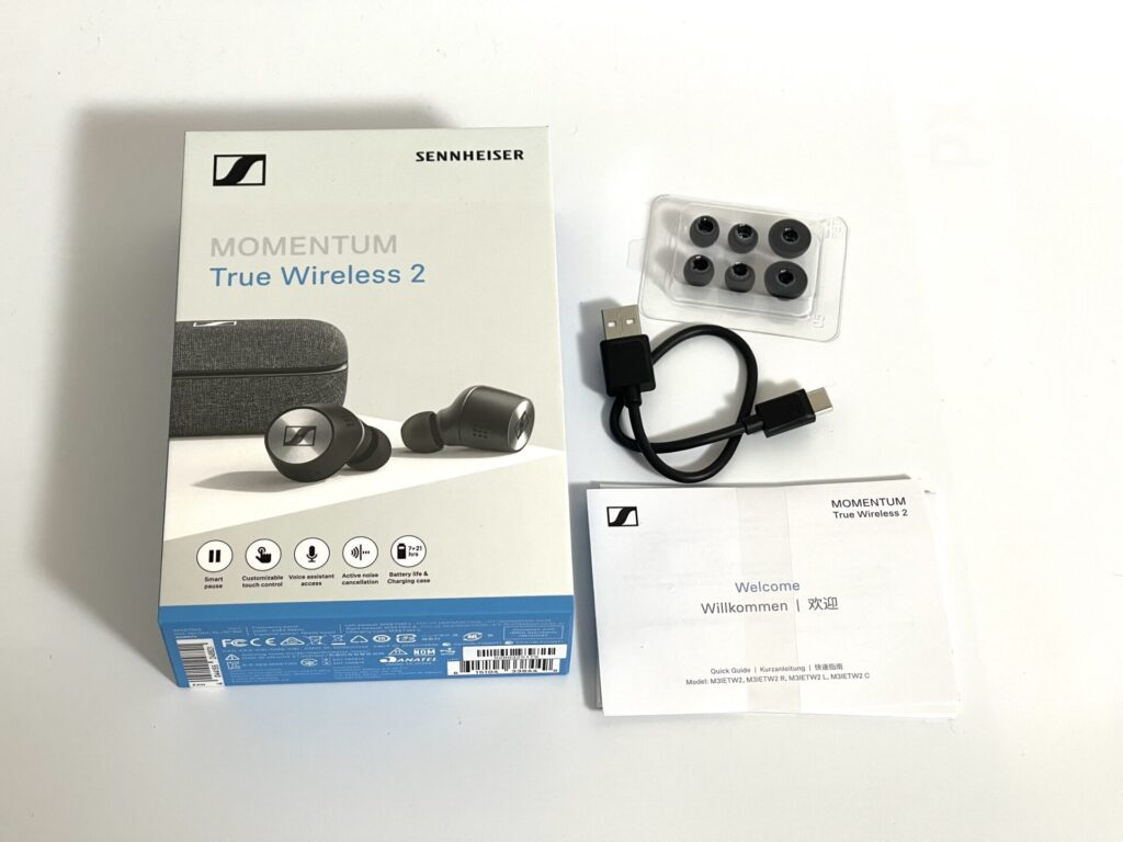 MOMENTUM True Wireless2の付属品