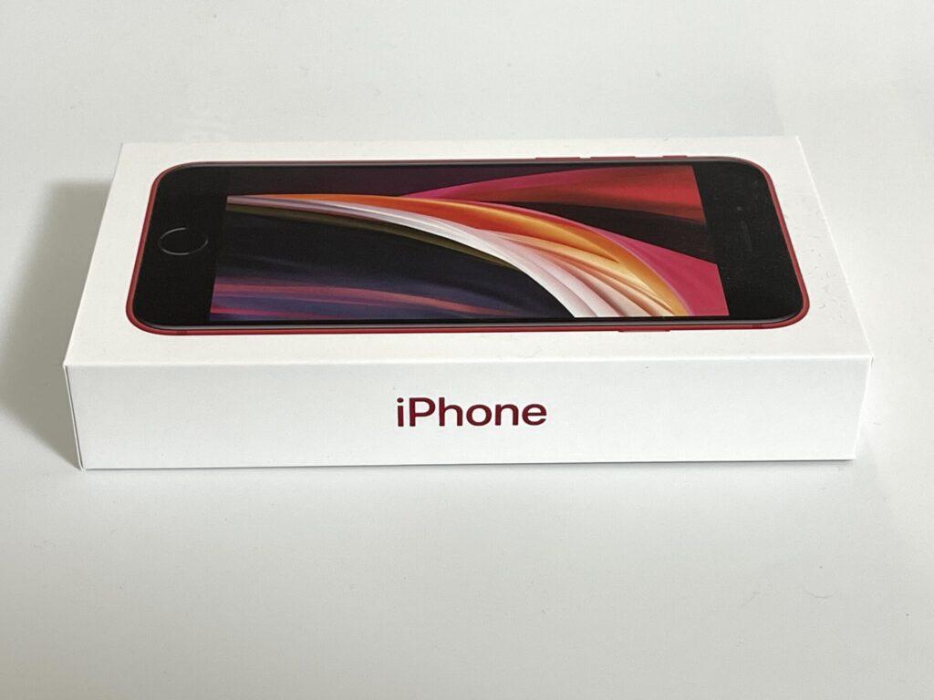 iPhoneSE2の外箱画像