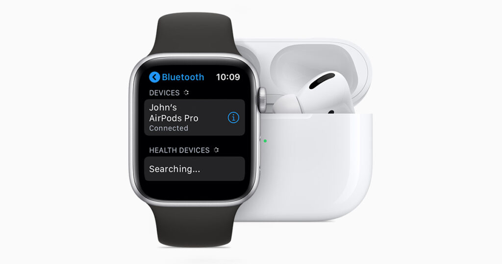 AirPodsProとApple Watchの画像
