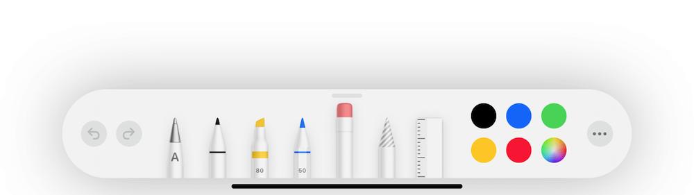 Apple Pencilのツール入れ替え画像