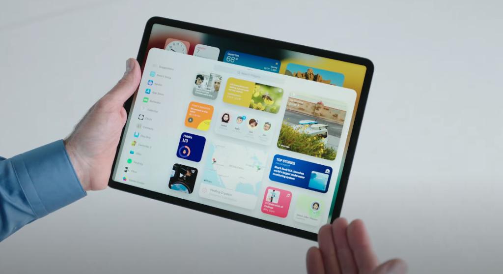 iPadのウィジェット