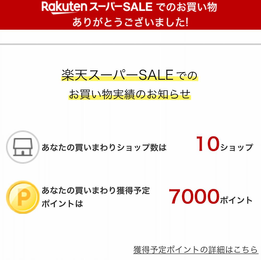 ショップ買いまわりのポイント上限7000ポイントの画像
