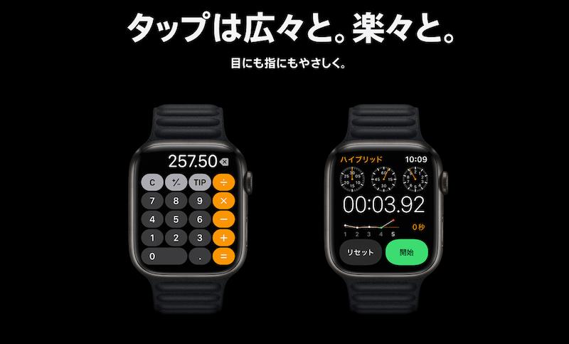Apple Watch7のボタン大型化