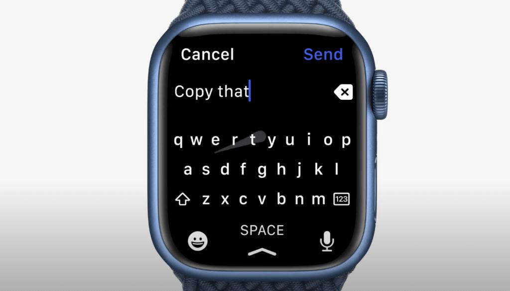 Apple Watchがフルキーボードに対応