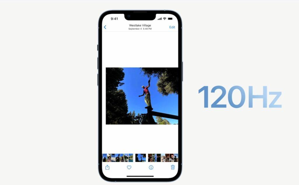 iPhone13Proの120Hz対応