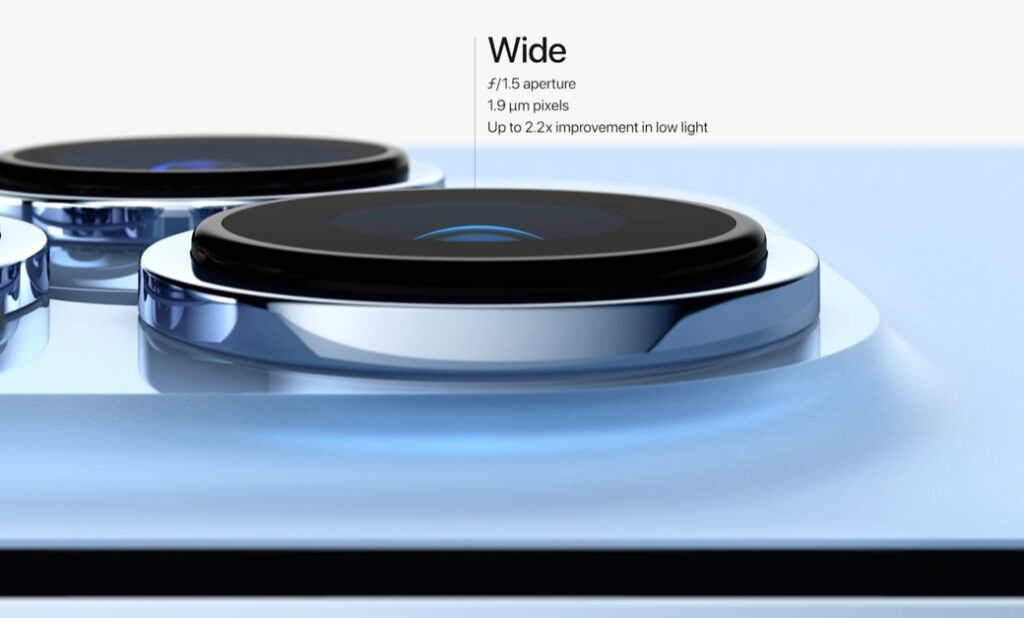 iPhone13Proの超広角レンズ