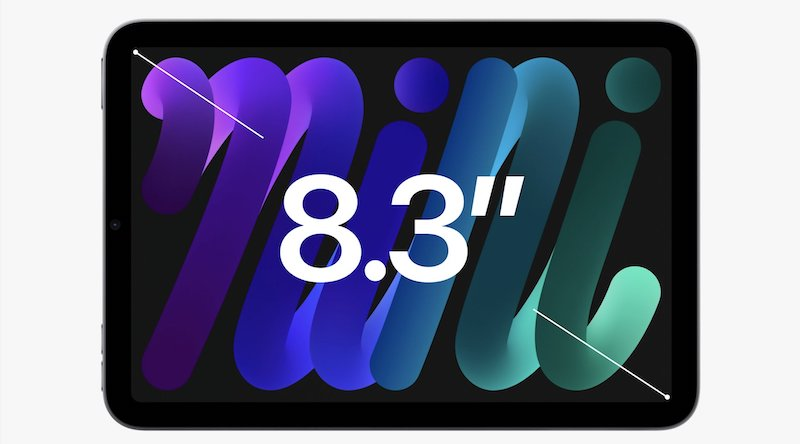 iPad miniの液晶サイズは8.3インチ
